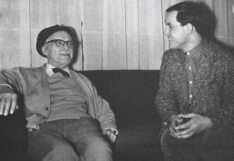 Geo Saizescu împreună cu Tudor Arghezi